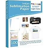Sublimation Paper 100 Sheets 11' x 17' for Any Epson Sawgrass Inkjet Printer with Sublimation Ink for T-shirt, Ceramic, Mouse Pad, Towel DIY Unique Gifts for Christmas