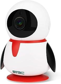SV3C ネットワークカメラ WiFi 1080P 200万画素 監視カメラ ipカメラ ベビーモニター ペット カメラ パンチルト 双方向音声 暗視機能 録画可能 技適認証済み