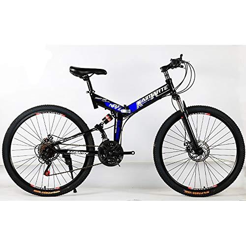 Link Co Bicicleta de montaña Plegable Bicicleta de montaña de 26 Pulgadas...
