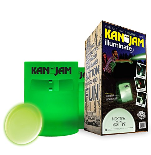 Kan Jam Illuminate Light-Up Game Set – Includes Two Light-Up Targets and One LED Light-up Disc – Play Day or Night – Features Portable Construction