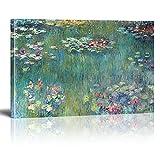 Cuadros en lienzo Impresión de arte de pared Claude Monet Nenúfares Pintura al óleo Lienzo Impresiones de carteles Imagen de arte de pared para sala de estar Marco interior