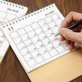 Corwar Desk Calendar 2019-2020 Desk Mensile, Flip-Top Calendario da Tavolo Stand Up Office Table Planner Data Blocco Note per Famiglia O Ufficio Aziendale consistent
