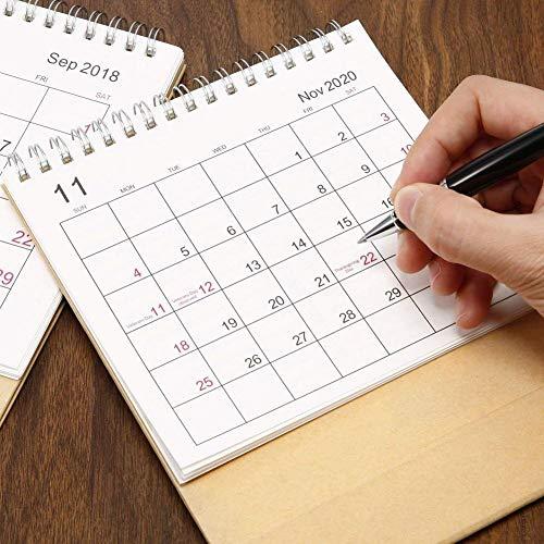 SOWLFE Calendario da Tavolo 2019-2020 Scrivania mensile, Calendario da Tavolo, Tavolo da Ufficio con Data, Calendario da Ufficio, Adatto a Famiglia o Ufficio Aziendale fine