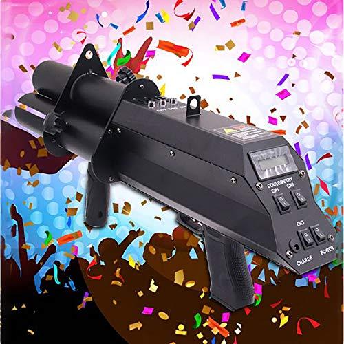 Wireless Confetti Cannon,Stage Electronic Three-Shot Salute Gun,Wedding Confetti Concierge Flowers Atmosphere Gun,Electric Confetti,Atmosphere Gun Suitable For DJ, Disco,Wedding, Stage Effect