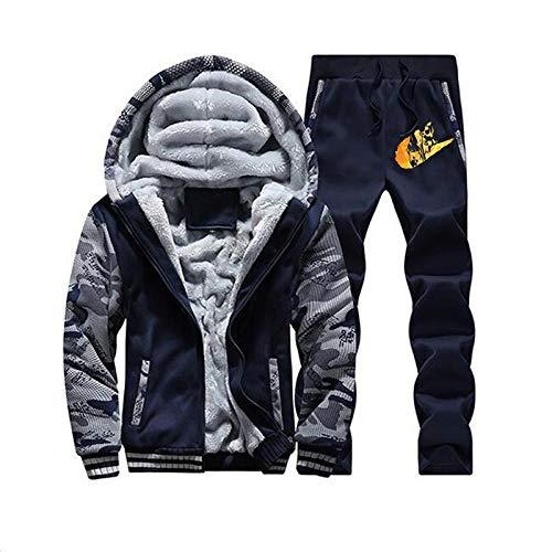 FesiAq Casual Sportswear Naruto bedruckter langärmeliger Pullover Anzug Strickjacke baseballanzug-Blaue Hose_M