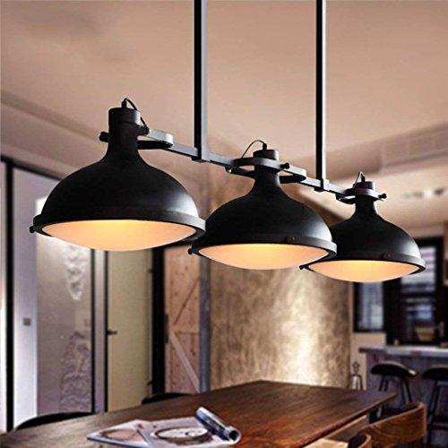 LIL Retro Loft Industriel Créatif Trois lustre Billard Lampe Table Rétro Bar Comptoir Campagne...