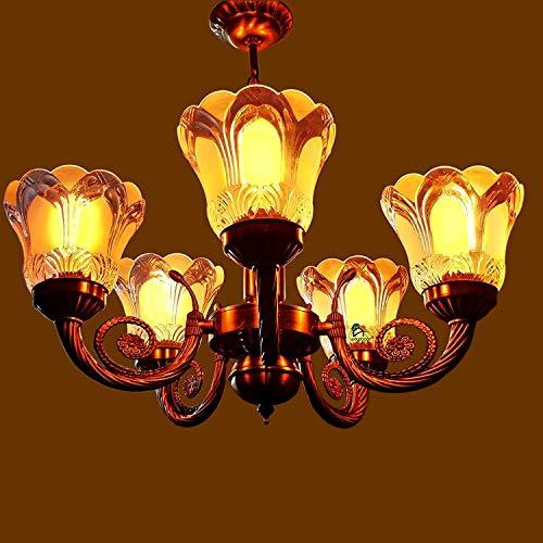 Weldecor Antique Color 5 Lamp Brass Designer Chandelier Jhoomer Ceiling Light