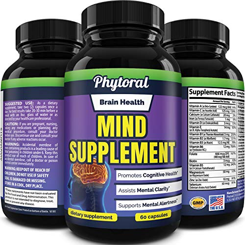 Nootropic Brain Booster for Mental Clarity - Best Nootropic Brain Supplement and Memory Pills for Brain Health Mental Focus and Energy Booster - Brain Pills for Focus, Recalls, Memory and Brain Fog