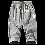 Shorts Pantalones Cortos Hombres Pantalones Cortos para Hombre Pantalones Cortos Casuales hasta La Rodilla Color Joggers Pantalones Cortos para Hombre Pantalones Bermudas para Hombre 3XL Gris