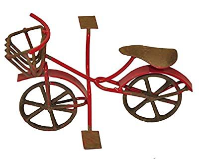 G & F Products MiniGardenn 10022 Fairy Garden Miniature Mini Bicycle, Red