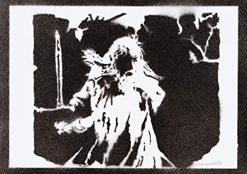 Gandalf Poster Der Herr der Ringe Plakat Handmade Graffiti The Lord of the Rings Street Art - Artwork