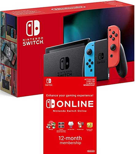 Nintendo Switch [Neon Red/Neon blue] + Switch Online 12 Months [Download Code]