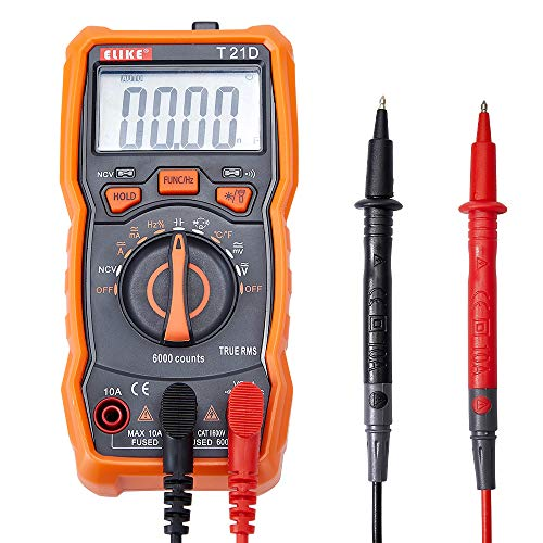 ELIKE 21D 6000 Digits True RMS Digital Multimeter with NCV,Backlit and Temperature