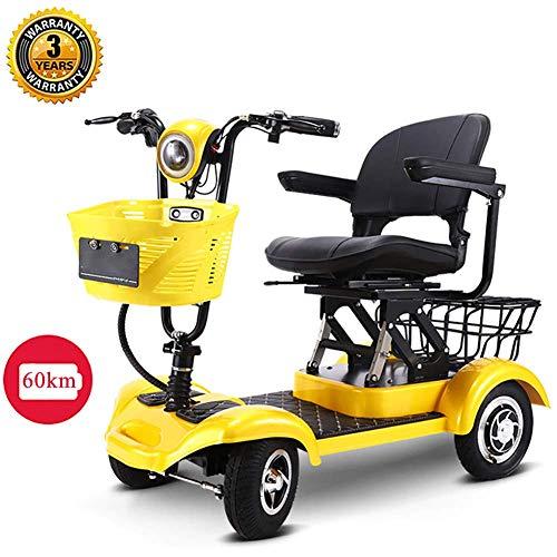 CGXYZ Elektromobil Elektroroller 4-Rad 300W 20km Seniorenmobil Senioren-Scooter E-mobil Faltbar Elektro Elektrofahrzeug Elektromobil Für Erwachsene