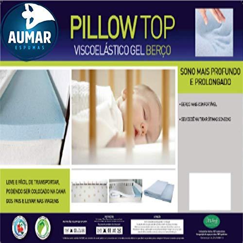 Pillow Top Para Berço Viscoelástico Nasa Gel Infusion (1,30 X 0,70 X 0,03)