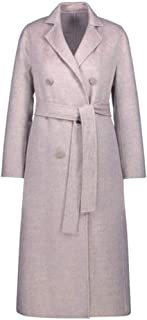 Womens Coats Double-faced woolen coat Winter Warm Woolen Outwear Lapel rench Long Parka rench Outwear Double-breasted waist is thin Cardigan Outwear