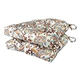 Arlee - Paisley Pad Seat Cushion, Memory Foam, Full-Length Ties for Non-Slip Support, Durable, Superior Comfort and Softness, Reduces Pressure, Washable, 16 x 16 Inches (Red, Set of 2)