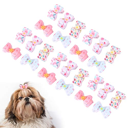 Lazo para Perro Mascota, 25 Piezas Lazos para el Pelo de Perro Lazo para el Pelo...