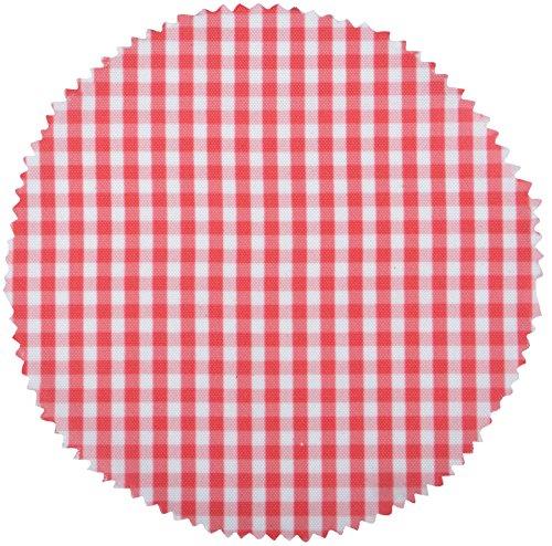 Esschert Design c2057 de Tissu Vichy Pot Housses – Rouge/Blanc