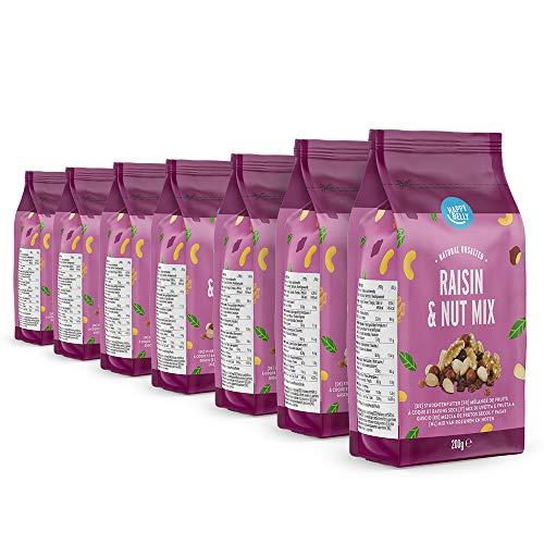 Marque Amazon - Happy Belly Mélange de fruits à coque et raisins secs, 7x200 g