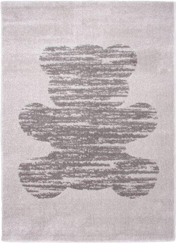 Nattiot Teppich Teddy Vintage grau PVC 170 x 120 cm