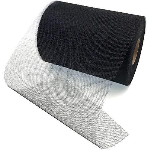 JZK 15cm x 90m rollos tul negro tela tul para decoración banquete boda fiesta mesa cumpleaños falda tutu