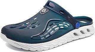 FDSVCSXV Mens Adults' Classic Clog, Lightweight Slip on Mules Kitchen Outdoor Beach Yard Pool Shower Sandals Slippers,Blue,42
