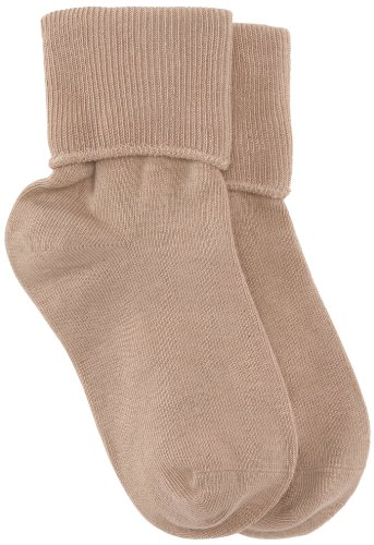 Jefferies Socks Girls' Big School Uniform Seamless Socks (Pack of Six Pairs), Khaki, Size 10-12(Shoe Size:9-13)