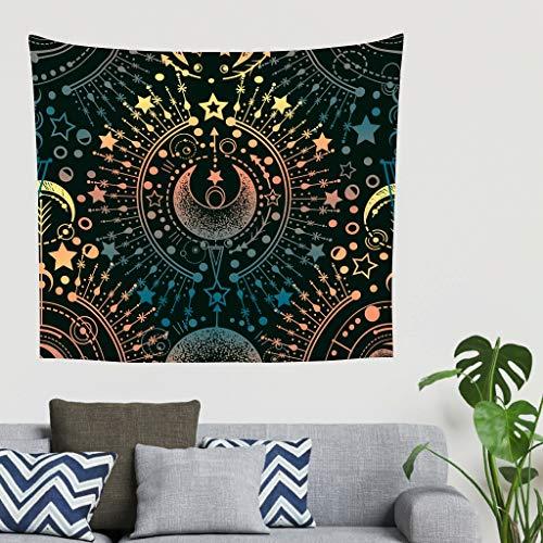 Charzee Star Moon Wandtapijt, comfortabel, Throw Bedsprei, Home Decoraties voor muur slaapkamer woonkamer