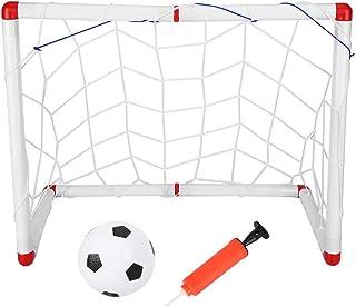 Fdit Mini fotboll mål set, barn fotboll mål nät, bärbar utomhus fotbollsmål nät, barn sport fotboll mål boll tillbehör