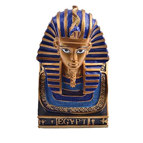 Vosarea Antiguo faraón egipcio escultura tutankamón estatuilla pequeña cabeza busto estatua de resina decoración del hogar artesanía