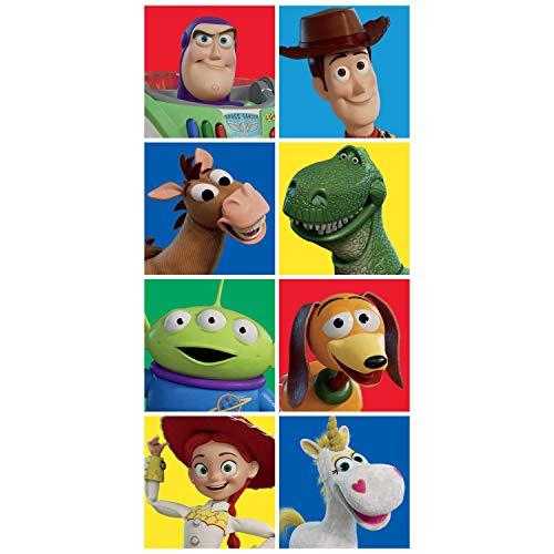 Disney Toalla de baño de playa de Toy Story Characters Squares