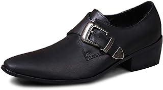 Rui Landed Oxford pour Hommes Chaussures Formelles Slip on Style Premium Véritable Cuir Monk Strap Low Top Business Casual...