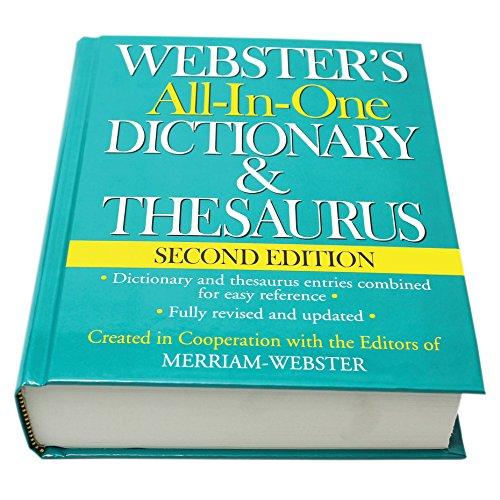 Webster's All-In-One Dictionary & Thesaurus, Second Edition, Newest Edition