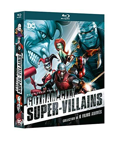 DC Gotham Super-Villains-Coffret : Deathstroke : Knights and Dragons Silence Harley Quinn The Killing Joke + Suicide Squad : Le Prix de l'enfer + Batman : Assaut sur Arkham [Blu-Ray]