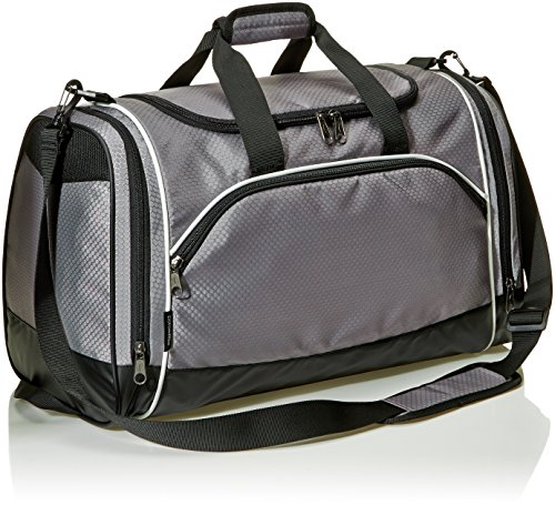 AmazonBasics Small Lightweight Durable Sports Duffel Gym and Overnight...