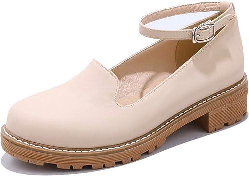 AN Damen Geschlossen Pantoffeln Bequem DGU01035 Blockabsatz Pumps