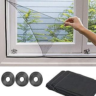 SOONHUA Raam Hor 3 Pack Raamhor Mesh Insectengaas Insect Bee Muggenbeschermer Met 3 Rollen Zelfklevende Tape