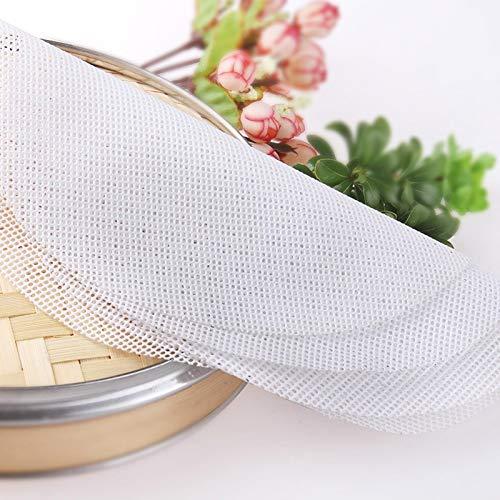 XTR Wiederverwendbare Silikongitter Antihaft-Kochmatte für den Dampfgarer Gefüllte Brötchenknödel 20-60 cm, 44 cm