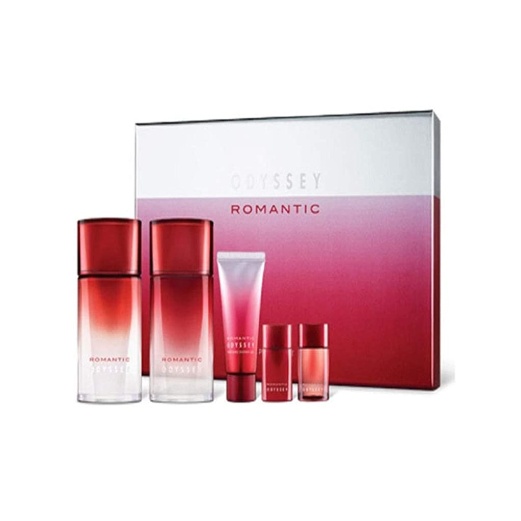 オデッセイロマンチックスキンリファイナーローションセットメンズコスメ韓国コスメ、Odyssey Romantic Skin Refiner Lotion Set Men's Cosmetics Korean Cosmetics [並行輸入品]