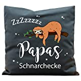Wandtattoo-Loft Kissen Bedruckt Papas Schnarchecke Faultiers Baumwolle 40 x 40 cm / 16 Stoff...