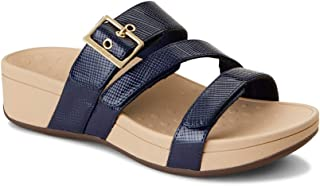 Vionic Women's Pacific Rio Platform Sandal - Ladies Adjustable Slide Sandal with Concealed Orthotic Arch Support