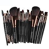 Make-up Pinsel, Ubabamama Professional Make-up Pinsel Set Pro Kosmetik-22pc Studio Pro Make-up Make-up Kosmetik Pinsel Set Kit mit Leder Tasche - Für Lidschatten, Blush, Concealer, etc....