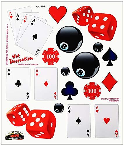 Quattroerre 999 Stickers voor kaarten om te spelen, 20 x 24 cm