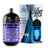 White Kaiman UV-A 5WATT Bug Zapper Electric Bulb for Indoor & Covered Outdoors 500volts (Black Zapper)