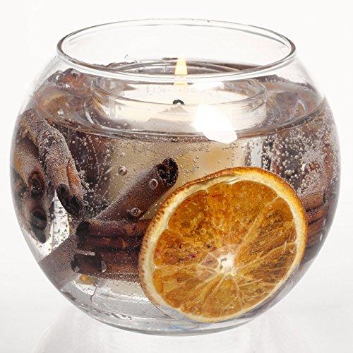 Stoneglow Candela Cannella & Arancione Gel Fish Bowl