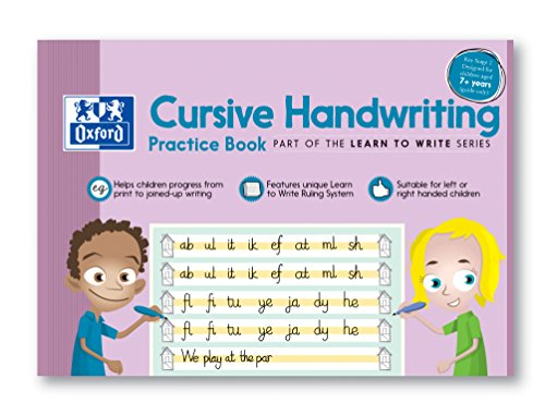 Oxford Übungsbuch für Kinder zum Schreibschrift lernen, in englischer Sprache, A4,210x 297mm, für Kinder ab 7Jahren, Buch mit 32Seiten