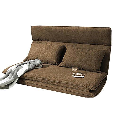 L-R-S-F Petit Lit Paresseux De Lit De Sofa Se Pliant De Chambre À Coucher par Lit Paresseux pour S'allonger pour Dormir (Couleur : Marron)