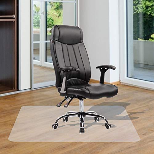Cocoarm Bodenschutzmatte Transparent Bodenschutz aus PVC Bodenmatte Bürostuhlunterlage Unterlegmatte Schutzmatte zu Hause oder im Büro (90 x 120 cm)