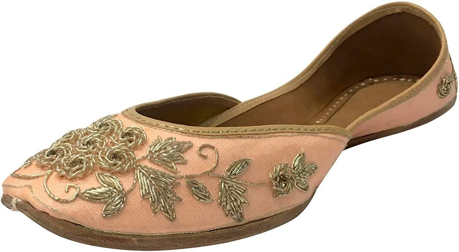 Step n Style Embroidered Handmade Women Ballet shoes Mojari Slipon Jutti Khussa shoes
